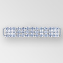 4 inch 3 row Rhinestone Connector in Crystal Silver, ss29