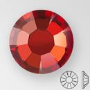 ss30 RED FLAME - PRECIOSA MAXIMA Flat Back, 18 facets, foiled