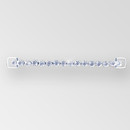 6.5 inch 1-row Rhinestone Connector with large loops, Crystal Silver, ss38