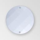 18mm Acrylic Round Sew-On Stone, Chalkwhite color