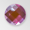 18mm Acrylic Round Sew-On Stone, Light Rose color