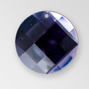 22mm Acrylic Round Sew-On Stone, Deep Tanzanite color