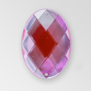 35x25mm Acrylic Oval Sew-On Stone, Light Rose color