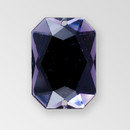 25x18mm Acrylic Octagon Sew-On Stone, Deep Tanzanite color