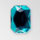 25x18mm Acrylic Octagon Sew-On Stone, Indicolite color