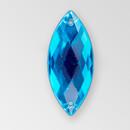 23x10mm Acrylic Navette Sew-On Stone, Aqua Bohemica color