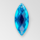 26x12mm Acrylic Navette Sew-On Stone, Aqua Bohemica color