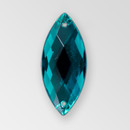 26x12mm Acrylic Navette Sew-On Stone, Indicolite color