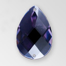 30x20mm Acrylic Pearshape Sew-On Stone, Deep Tanzanite color