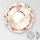 ss30 LIGHT GOLD QUARTZ - PRECIOSA MAXIMA Flat Back, 18 facets, foiled