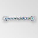 4.5 inch One Row Crystal AB Silver Rhinestone Connector, ss38