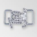 1 inch Crystal Silver Rhinestone Fancy Closure