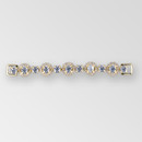 4.3 inch Rhinestone Connector, Crystal Gold, ss29, ss6.5