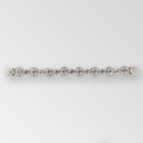 6.7 inch Rhinestone Connector, Crystal Gold, ss29, ss6.5