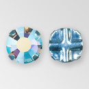 Flat Back Aqua AB color, Silver Plated ss20 Extra Rosemontees
