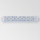 6.5 inch 3-row Rhinestone Connector, Crystal, Silver, ss29, ss40