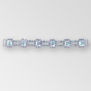 7.5 inch 6 Octagons Crystal AB Octagons, Crystal Stones, Silver Rhinestone Connector, ss18, ss14.5