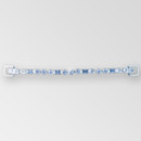 6.5 inch 1- row ss29, 10x5mm Baguettes, Crystal Silver Rhinestone Connector