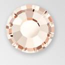 MC Hot Fix Chaton Rose in Light Gold Quartz color, size ss34, foiled back
