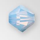 4mm MC Preciosa Bicone (Rondelle) Bead, Light Sapphire Opal AB color
