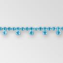 Crystal Silver Fancy Rhinestone Chain, ss18, ss30