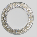 18mm Round shape Rhinestone Button, Crystal White / Silver