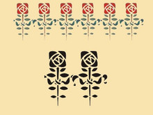 Roycroft Reminiscent Rose Napkin Size