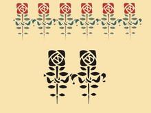 Roycroft Reminiscent Rose 6 X 6.75