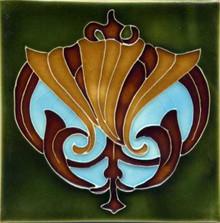 Porteous V59 Art Nouveau Tile