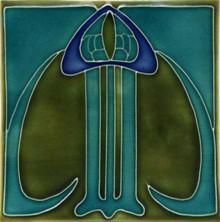 Porteous V15B Art Nouveau Tile
