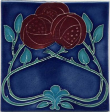 Porteous Glasgow Rose Tile