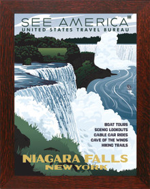 Niagara Falls WPA-Style Framed Poster