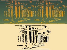 Forest Frieze 9.75 X 6.5