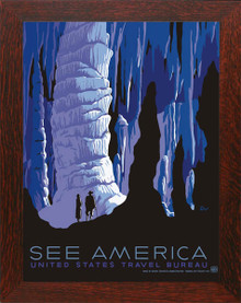 Carlsbad Caverns See America Poster Framed