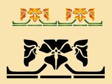 Arts & Crafts Geometric Flower 15 X 6