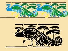 Art Nouveau Peacock 11 X 4.5