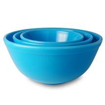 Glass Bowl Set - Blue