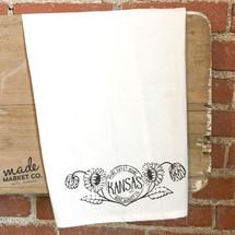Kansas Sunflower Tea Towel