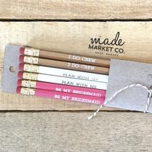 Bridesmaid Pencil Set