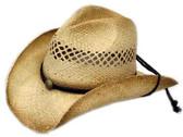 Raffia Straw w/ Tea Stain (Pinch) Cowboy Hats