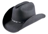 Ringo's Silverado Black Crushable Concho Hatband Hat By Rodeo King Made in the USA