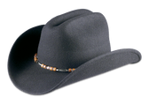 Ringo's Silverado Black Crushable Hat By Rodeo King Made in the USA