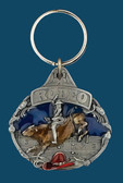 Rodeo Bullrider Key Ring, Enamel