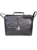 LAPTOP BRIEF.  QUICK RELEASE LOCKING FLAP CLOSURE WITH TWO MAGNETIC SNAPS.  EXTERIOR REAR OPEN POCKET WITH MAGNETIC SNAP CLOSURE.  INTERIOR FRONT PANEL HAS FULL OPEN POCKET.  INTERIOR FULL ZIP SECTION FOR WORK FILES.  INTERIOR PADDED SHUTTLE SECTION