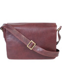 MESSENGER BAG.  FULL FLAP WITH TWO MAGNETIC SNAP CLOSURES.  EXTERIOR REAR FULL ZIP POCKET AND CELL PHONE POCKET.  INTERIOR FRONT PANEL HAS A FULL OPEN POCKET.  MAIN INTERIOR HAS A ZIP POCKET AND ORGANIZING POCKETS.  ADJUSTABLE CROSSBODY SHOULDER STRA