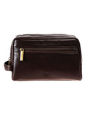 SHAVE KIT.  TOP ZIP CLOSURE.  EXTERIOR FULL FRONT POCKET.  HANDLE ON SIDE.  ROOMY INTERIOR.  IMPORT.
