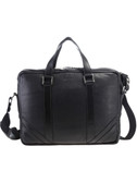 LAPTOP BRIEF.  3-WAY TOP ZIP CLOSURE WITH TWO ZIP PULLS.  EXTERIOR REAR OPEN POCKET AND VERTICAL ZIP POCKET.  INTERIOR MESH LINING WITH ZIP AND ORGANIZING POCKET.  LARGE LAPTOP COMPARTMENT WITH VELCRO TAB CLOSURE.  DOUBLE HANDLES - 8 INCH DROP LENGTH