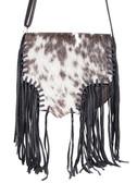 Hair on Calf Knotted Fringe Handbag
