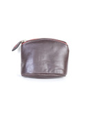 SMALL COIN PURSE.  CONTRASTING COLORS.  TOP ZIP CLOSURE.  IMPORT.