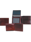 SLIM BILLFOLD W/REMOVABLE ID CASE.  FOUR CREDIT CARD POCKETS.  TWO VERTICAL OPEN POCKETS.  IMPORT.